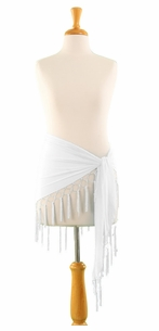 Triangle Sheer Sarong in White