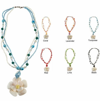 "White Mother of Pearl Necklace 20"" - Set of 6"