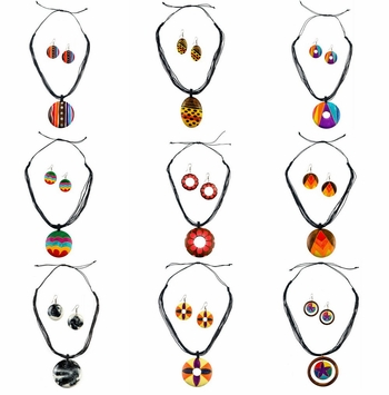 Wooden Necklace and Earring Sets (Set of 12)