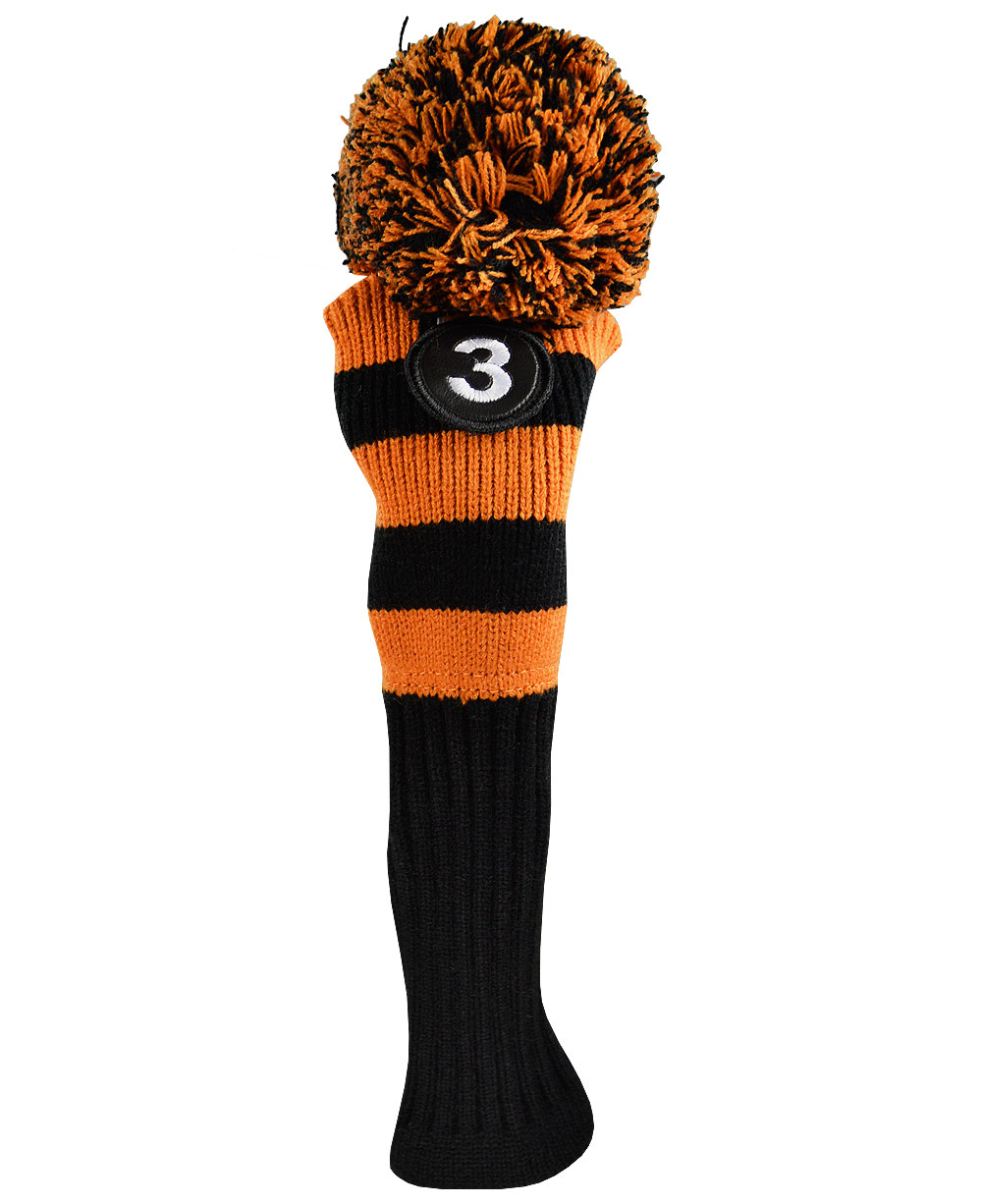Knitting Terminology M1 : Ray cook pom knit fairway wood head cover by