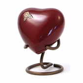 Artisan Auburn Metal Alloy Heart Keepsake