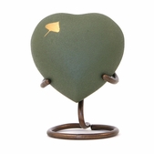 Aspen Nature Heart Shaped Keepsake Urn