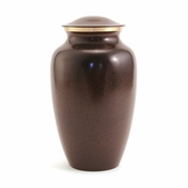 Brown Granite Solid Brass Urn