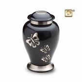 Butterfly Tribute Solid Brass Urn