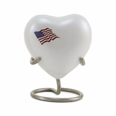Classic Color Flag Heart Keepsake Urn