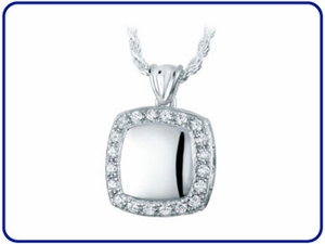 Cushion Cremation Jewelry Pendants