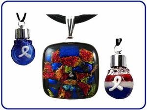 Glass Keepsake Pendants
