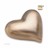 Heart Brushed Gold