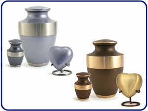 Lineas Solid Brass Urns