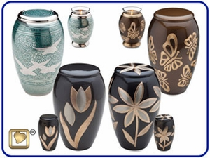 Majestic Solid Brass Urns