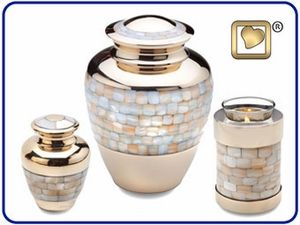 Mother of Pearl Urns Set