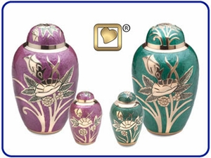 Rose Collection Brass Urns