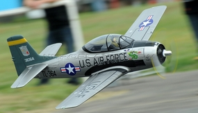 2.4G 6-Channel AirField RC T28 1400mm Radio Control Warbird Plane w/ Brushless Motor/ESC/Lipo 100% RTF *Super Scale* EPO Foam Plane + Electric Retracts (Silver) RC Remote Control Radio
