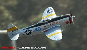 2.4G Airfield P-47 750mm RC Warbirds RTF w/ Brushless Motor+ESC+Everything (Silver) RC Remote Control Radio