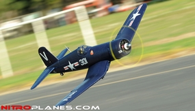 2.4G Extreme Detail 5-CH AirField RC F4U Corsair 1430MM Warbird Plane w/ Brushless Motor/ESC/Lipo 100% RTF *Super Scale* EPO Foam Plane + Electric Retracts (Blue) RC Remote Control Radio