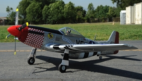"2.4G Extreme Detail 6-Channel AirField RC P-51 1450MM (57"") Radio Control Warbird Plane  Kit *Super Scale* EPO Foam Plane + Electric Retracts + Retractable Tail Wheel +Flap(Silver) RC Remote Control Radio"