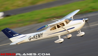 "2.4Ghz 4 Channel AirField RC 55"" Sky Trainer Upgrade Version Airplane w/ Brushless Motor/ESC/Lipo/LED Lights 100% RTF *Super Scale/Detail* EPO Foam Plane (Blue) RC Remote Control Radio"