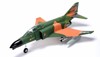 2.4GHz AirField 70MM Electric Ducted Fan Jet EDF F4 w/ Missles Brushless ESC/Motor & Lipo Battery (Camo RTF)