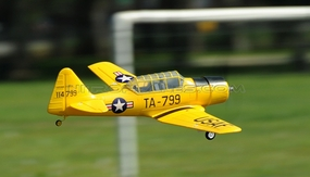 2.4GHz Airfield AT6 Texan 800mm RC Warbirds RTF w/ Brushless Motor+ESC+Everything (Yellow) RC Remote Control Radio 93A606-800-AT6-Yellow-RTF-24G