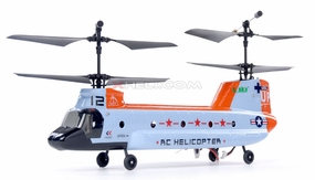 2.4Ghz Esky Tandem Rotor 4CH RC Chinook Helicopter Orange EskyHeli_2328-Chinook-Orange