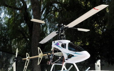 2007 New Esky 6 CH Honey Bee King II CCPM 3D Aerobatic Radio Remote Control Electric RC Helicopter RTF (White)