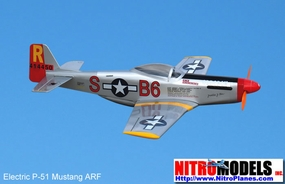 3-Channel P-51 Mustang EP ARF Electric Radio Remote Controlled RC Warbird Plane ARF_ElectricP51_3CH
