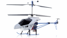 3 Channel RTF Ready to Fly Electric RC Helicopter w/ Built in Gyroscope (White) RC Remote Control Radio