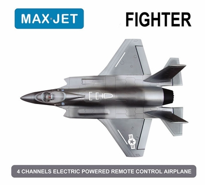 """4 CH  64MM EDF 3D Aerobatic Electric Ducted Fan RC Fighter Jet ARF """"Receiver Ready""""(Camo)"""