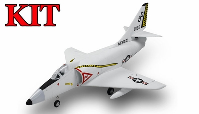 4-CH AirField 64mm A4 Ducted Fan RC Jet Kit w/out electronics (Grey) RC Remote Control Radio 93A200-A4-Grey-Kit