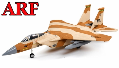 4-CH AirField 64mm F15 Ducted Fan RC Jet ARF w/ Brushless Motor+ESC (Desert Camo) 93A15-F15-DesertCamo-ARF