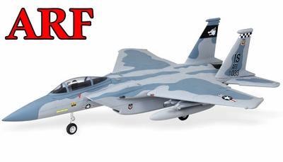 4-CH AirField 64mm F15 Ducted Fan RC Jet Receiver-Ready w/ Brushless Motor+ESC (Sky Camo) 93A15-F15-SkyCamo-ARF