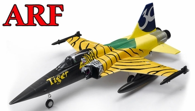 4-CH AirField 64mm F5 Ducted Fan RC Jet ARF Receiver-Ready w/ Brushless Motor+ESC (Tiger) RC Remote Control Radio