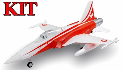 4-CH AirField 64mm F5 Ducted Fan RC Jet Kit w/out electronics (Red) RC Remote Control Radio