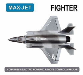 4 CH Max Jet 64MM Fighter Electric Ducted Fan Jet KIT Version (Sky Camo) RC Remote Control Radio