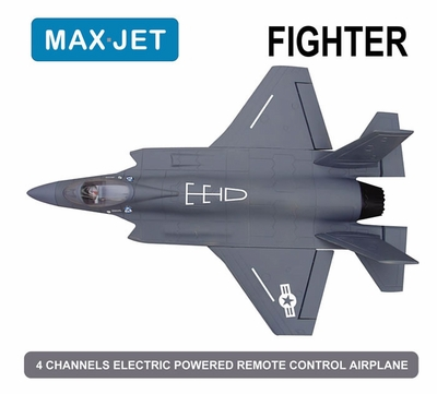 4 CH Max Jet 64MM Fighter Electric Ducted Fan Jet KIT Version (Sky Grey) RC Remote Control Radio
