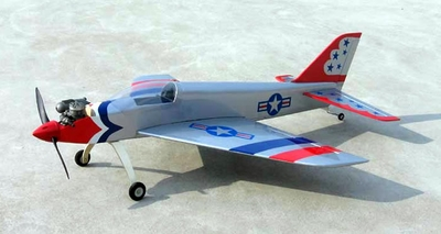 "4-Channel Falcon 30 - 34.3"" United States Air Force USAF Nitro Gas Radio Remote Control Airplane Jet Glider"