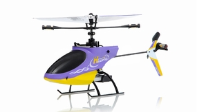 4CH Mini RC Helicopter 9958 hot selling 2.4GHz Single-Propeller with Gyro  (Purple) RC Remote Control Radio