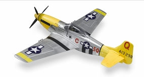 5-Ch P-51 Mustang  RC Warbird Plane Kit Airframe w/ Electric Retracts (Yellow) RC Remote Control Radio 93A51-P51-Yellow-KIT-ERetract