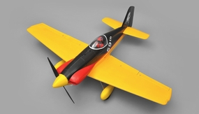"AeroSky RC RC 5 Channel Midget Mustang 55"" Scale Remote Control Plane ARF (Yellow) RC Remote Control Radio"