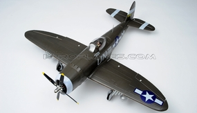 6-CH Airfield RC 1400mm P-47 Warbird Plane w/Brushless Motor+ESC+Electric Retracts+Flap ARF (Green) RC Remote Control Radio