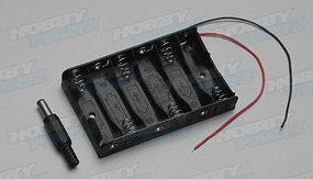 6 x AA Batteries Holder Case w/ Power Plug for Arduino