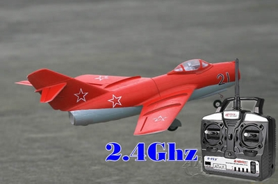 64mm Art-Tech 4 Channel 2.4Ghz MiG-15 3D Radio Remote Control Electric Ducted Fan RC Fighter Jet RTF Ready to Fly! RC Remote Control Radio