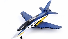 64mm Concept X Super Performance Brushless Ducted Fan RC Jet ARF Receiver-Ready (Blue) RC Remote Control Radio