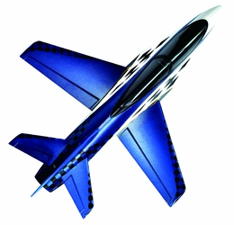 64mm Concept X Super Performance Ducted Fan RC Jet Airframe Only (Blue) RC Remote Control Radio