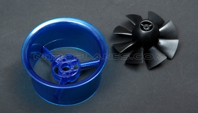 64mm EDF Kit,including the unique 8-blade fan rotor  and ducted housing