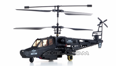 9006 3-Channel Black Air Shark RTF Ready to Fly KA-50 RC Helicopter w/ Built in Gyro RC Remote Control Radio