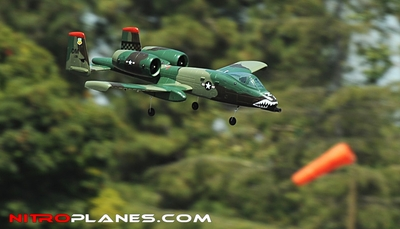 A-10 Thunderbolt II Electric Ducted Fan Dual 64mm Jet Kit (Army Green Airframe) RC Remote Control Radio