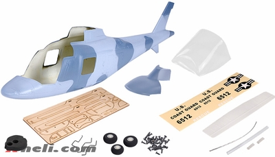 A109 450 Glass Fiber Fuselage  for 450 Size Helicopters Sky 67P-450-A109-405-Sky