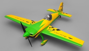 "AeroSky RC 4 Channel Extra 330SC Special Edition 55"" Sports Aerobatic Brushless RC Airplane Kit (Green) RC Remote Control Radio"