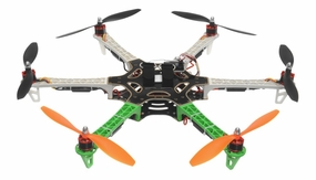 AeroSky RC 550 RC 6 Channel Hexacopter Almost Ready to Fly (Green) RC Remote Control Radio